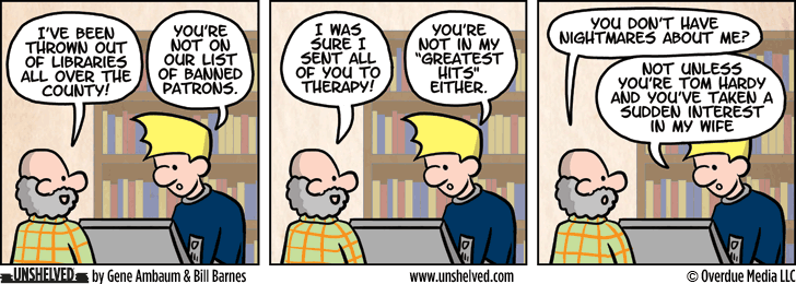 Unshelved comic strip for 8/25/2015