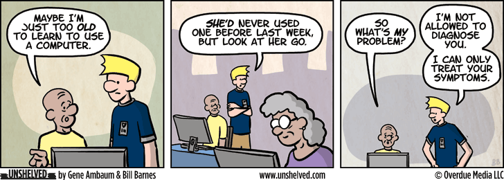 Unshelved comic strip for 10/14/2015
