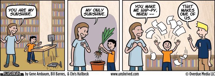 Unshelved comic strip for 11/10/2015