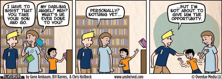 Unshelved comic strip for 11/11/2015