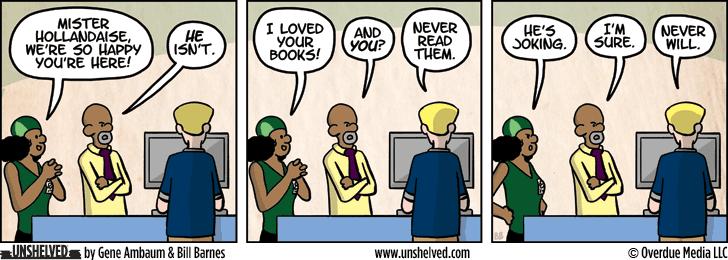 Unshelved comic strip for 12/8/2015