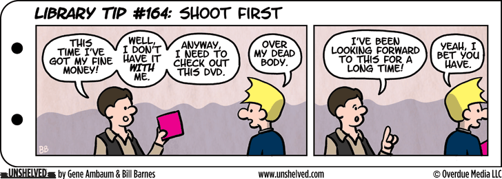 Unshelved comic strip for 1/28/2016