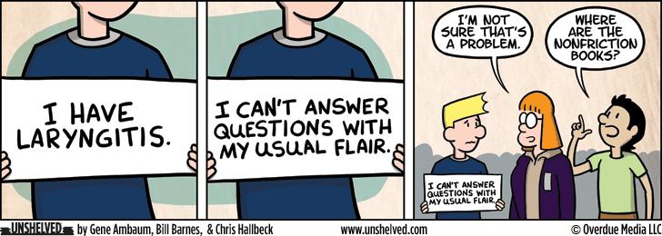 Unshelved comic strip for 2/9/2016