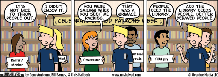 Unshelved comic strip for 2/17/2016