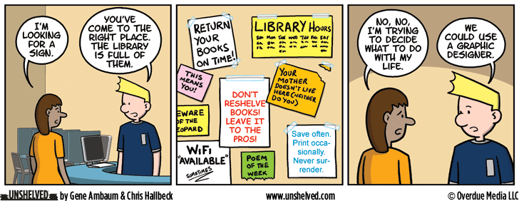 Unshelved comic strip for 6/8/2016