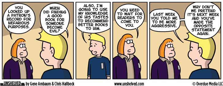Unshelved comic strip for 8/4/2016