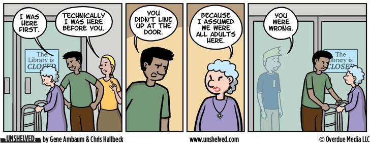 Unshelved comic strip for 8/15/2016