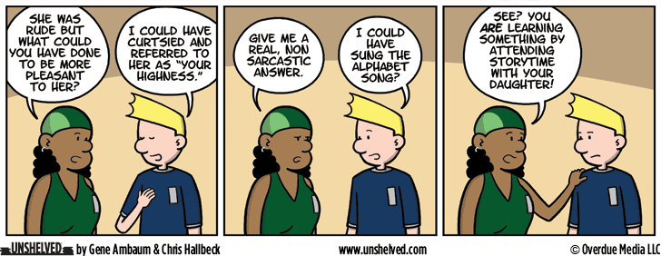 Unshelved comic strip for 9/8/2016
